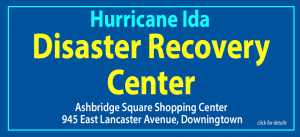 Poster: Hurricane Ida Disaster Recovery Center with address